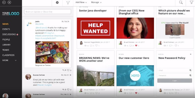 employee social media channel example