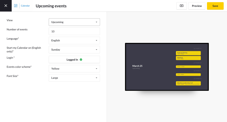 calendar for google app settings