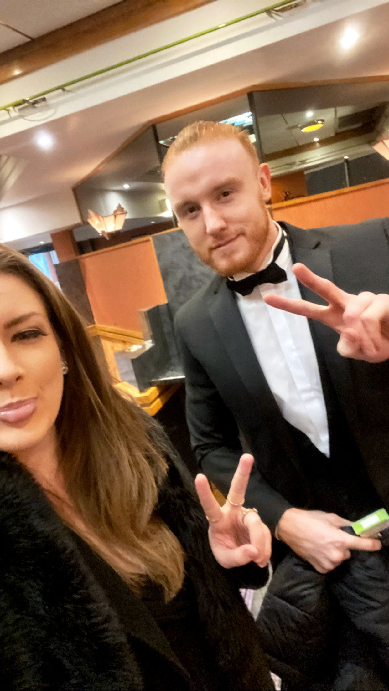 SCR Tracker Co Founder Luke O'Dwyer and Head of Business Development Julia Nielsen black tie event Troxy London bett show awards 2020 finalists award winning software single central register record vetting checks dbs recruitment HR business manager