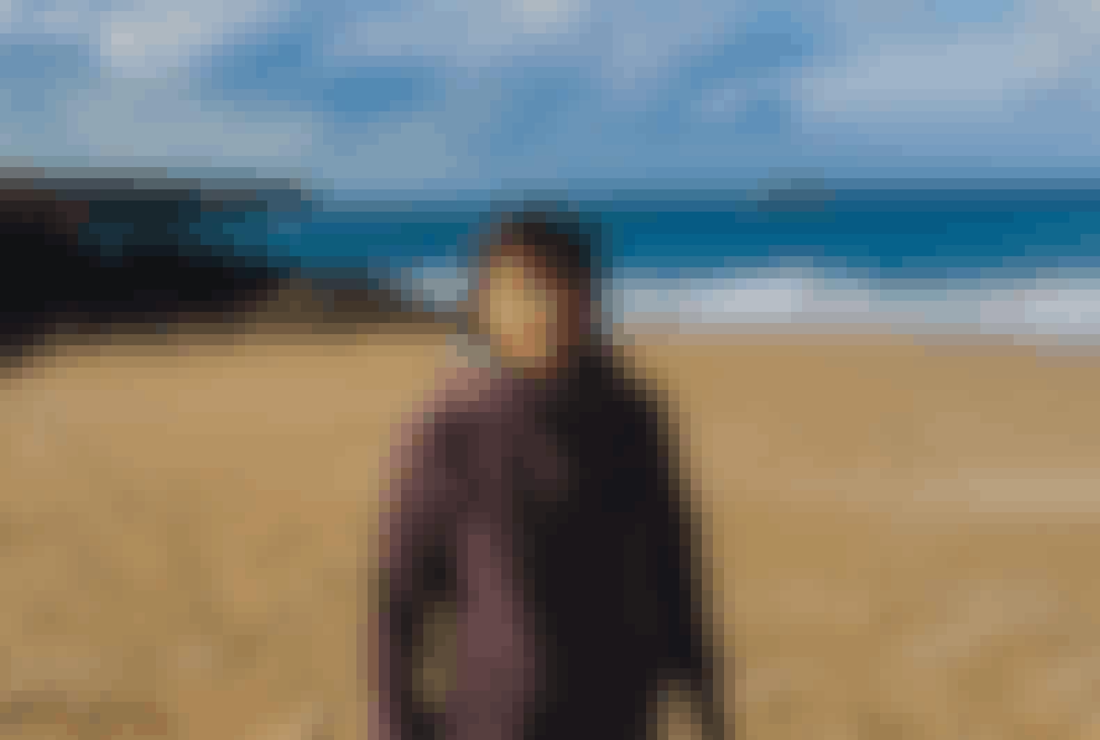 Je suis sur une plage à quelques kilomètres de mon domicile