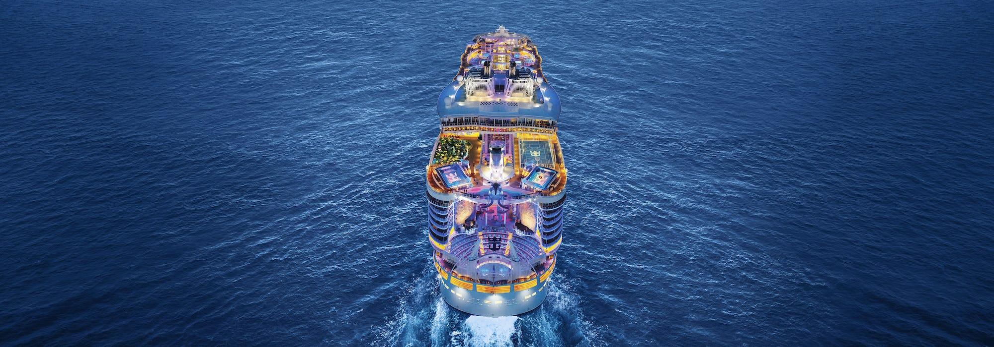 Royal Caribbean cruise ship at sea