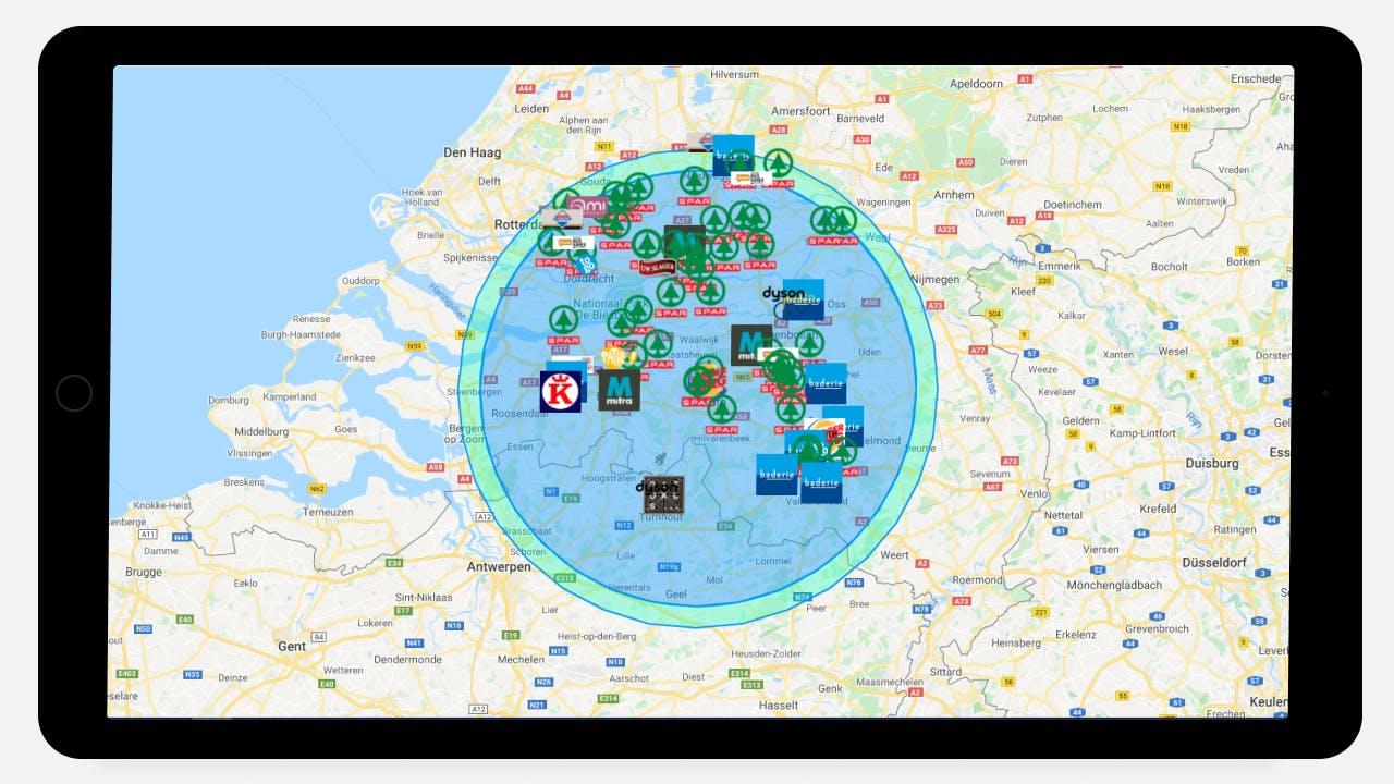 Opdrachten Zoeken op Kaart Secret View Platform