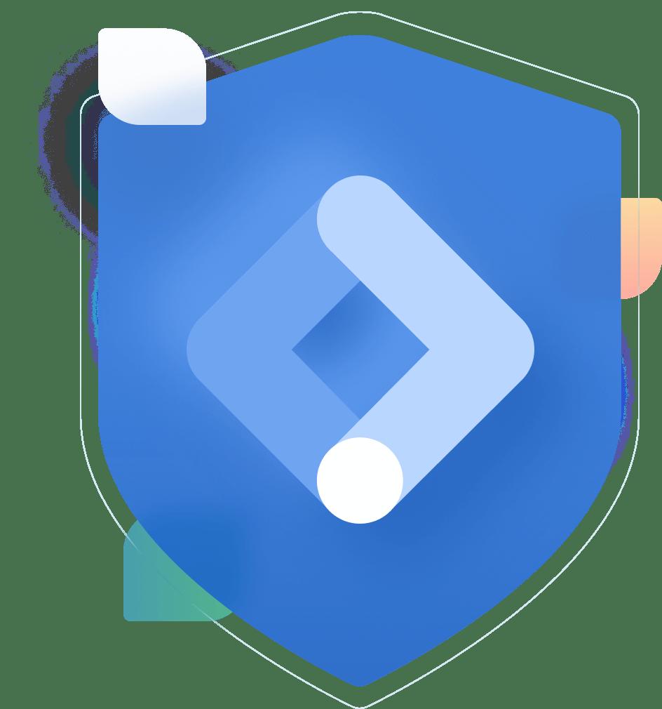 google tag manager logo badge