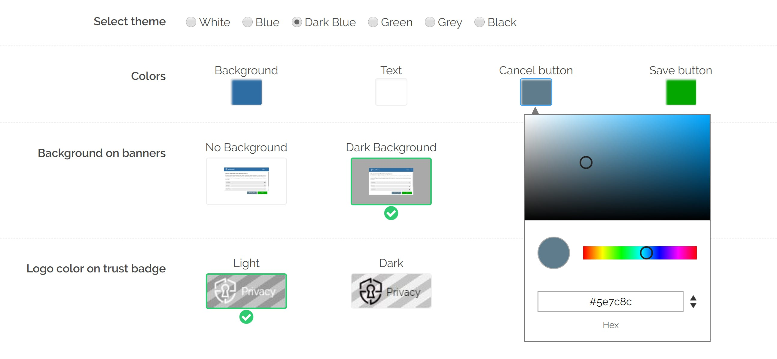 CSS customization options secure privacy
