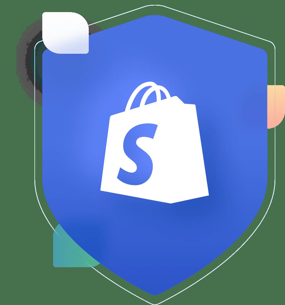 Shopify logo badge