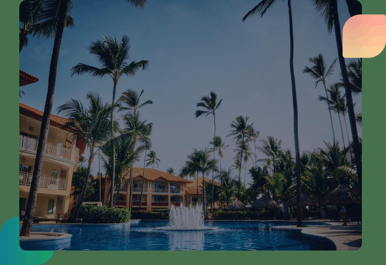 hotel resort palm tree