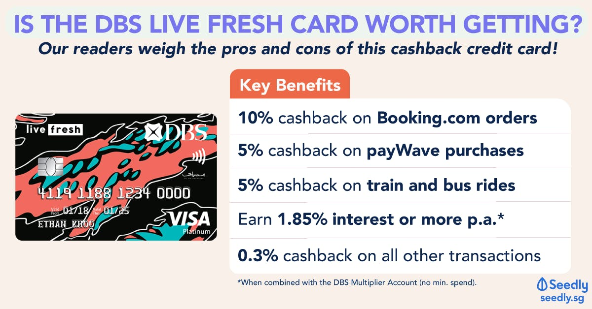 DBS Live Fresh Card Benefits