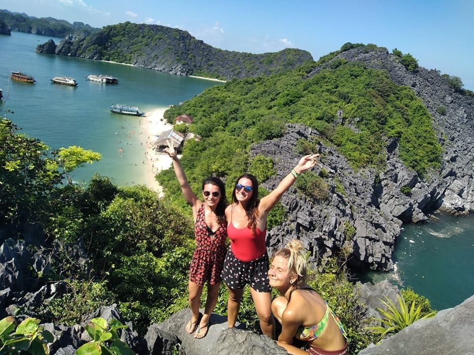 Hike to the top of Monkey Island at Lan Ha Bay
