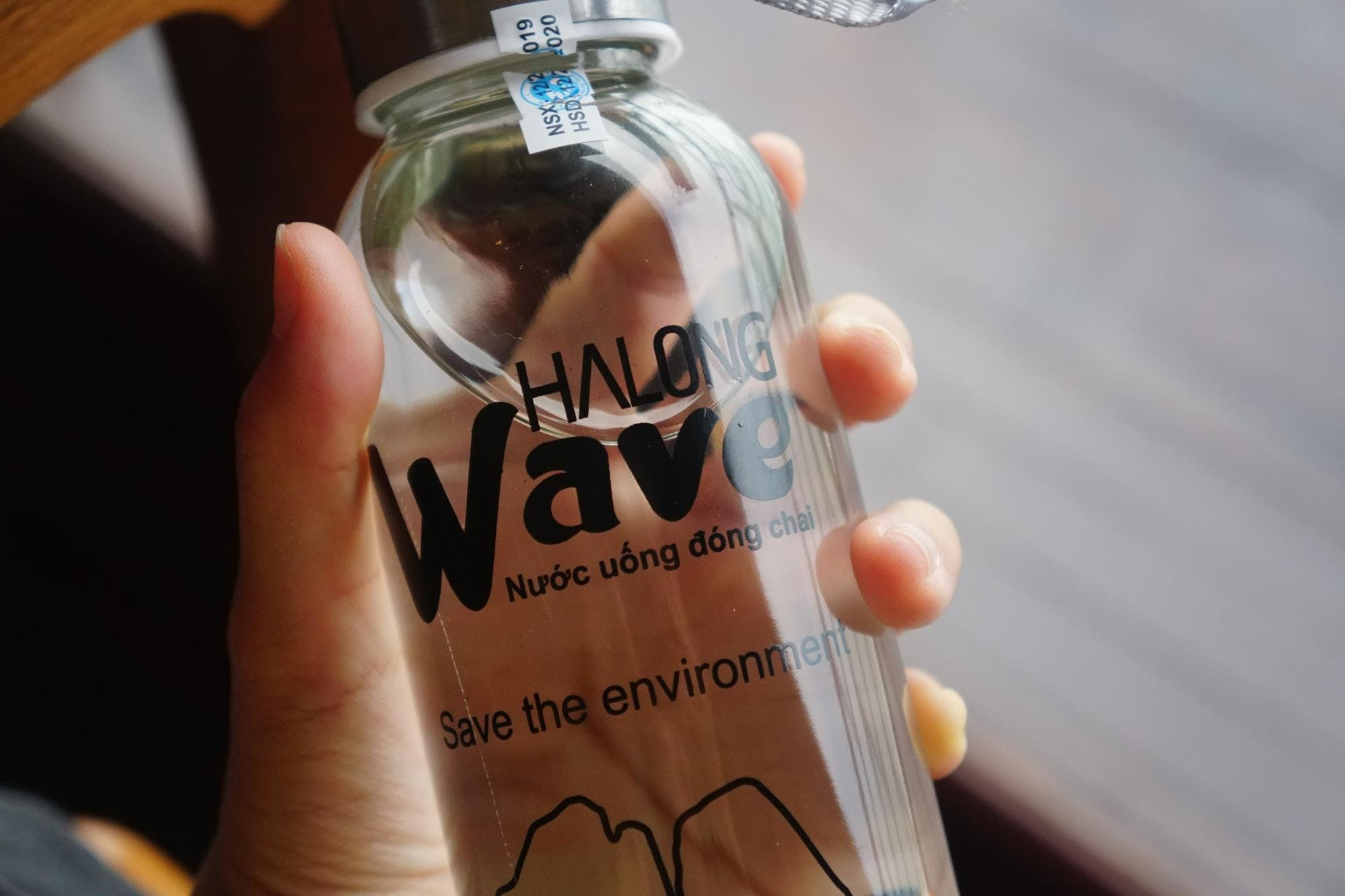 Halong Bay has banned single use plastics so all the boats have glass bottles for water