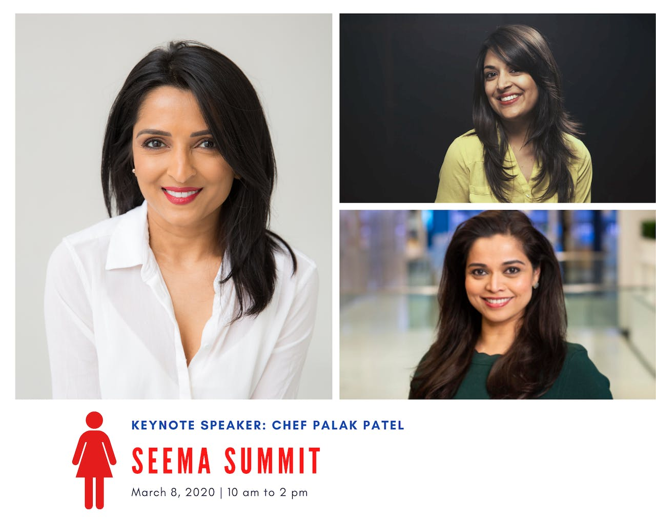 The inaugural's SEEMA SUMMIT is about women who are breaking barriers and living life to the fullest. So on March 8th, we'll be hosting a first-of-its-kind gathering designed to do just that. The event will be held in New York, NY on 03.08.2020, on International Women's Day
