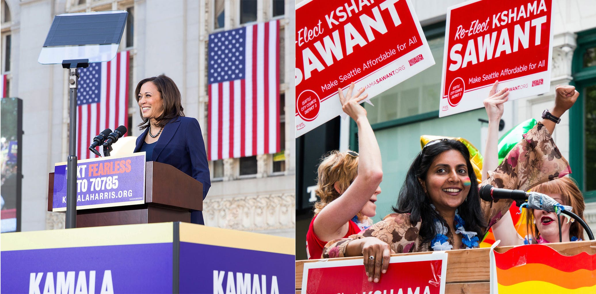 Kamala Harris and Kshama Sawant