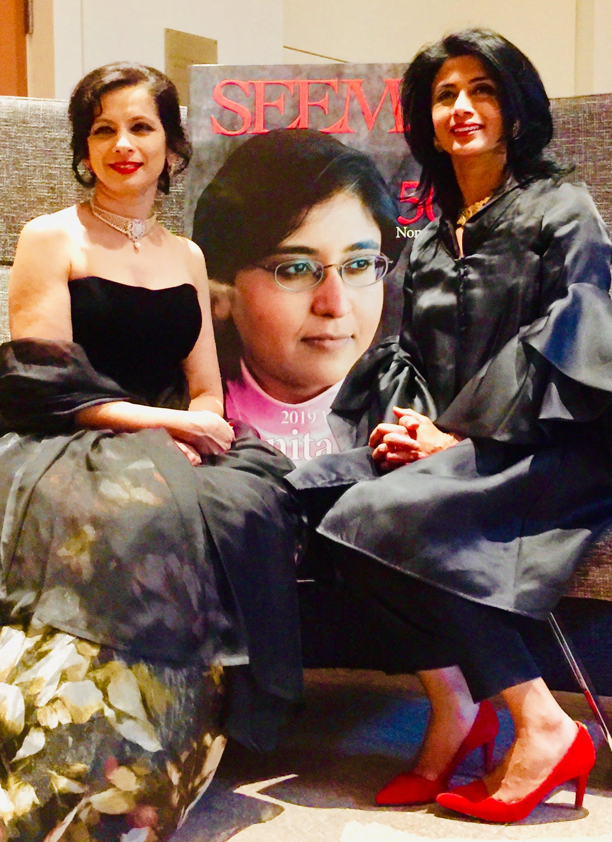 Seema Kumar and Nilanjana Bhowmik for SEEMA Woman Entrepreneur of the Year award. SEEMA Magazine. SEEMA entrepreneurs. Boston TiE. SEEMA Network. SEEMA empowering Indian women leaders. SEEMA 2019