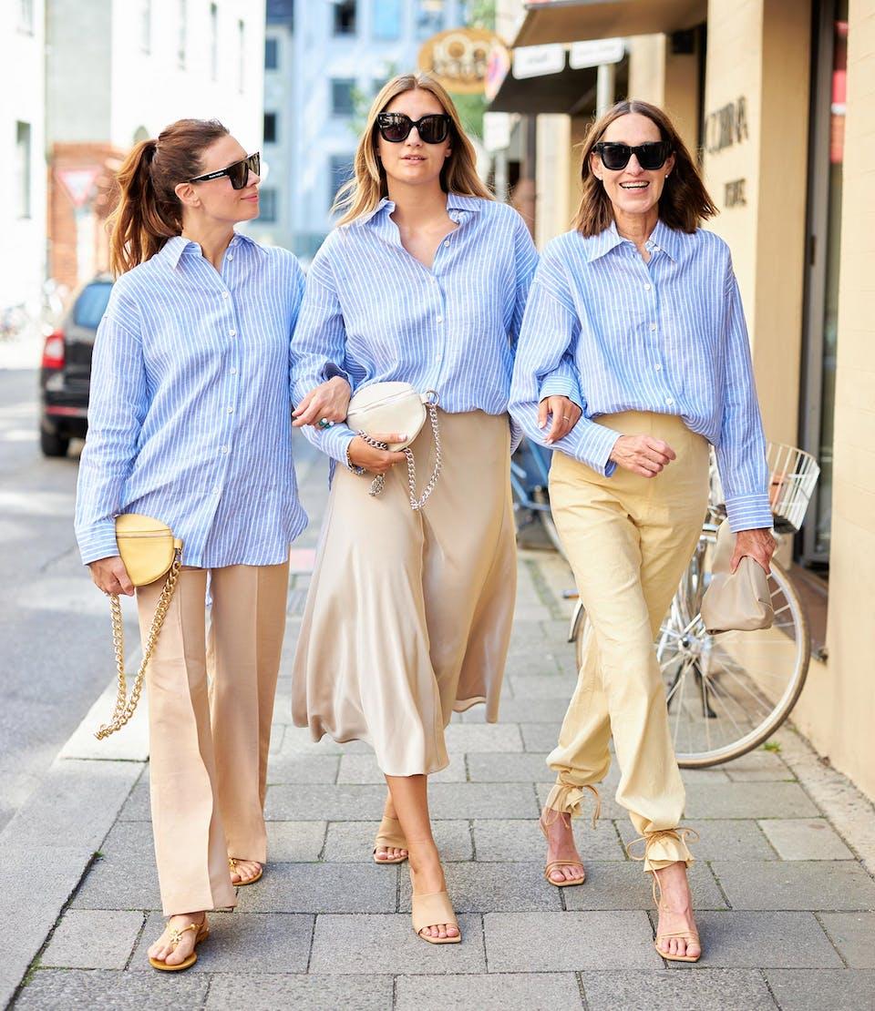 Hellblau mit Streifen glam-o-meter Bluse | Seidensticker