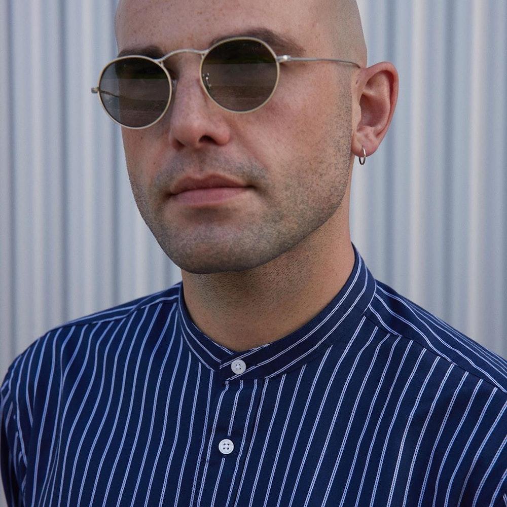 Bügelleichtes Twill Business Hemd in Slim mit Stehkragen | Seidensticker