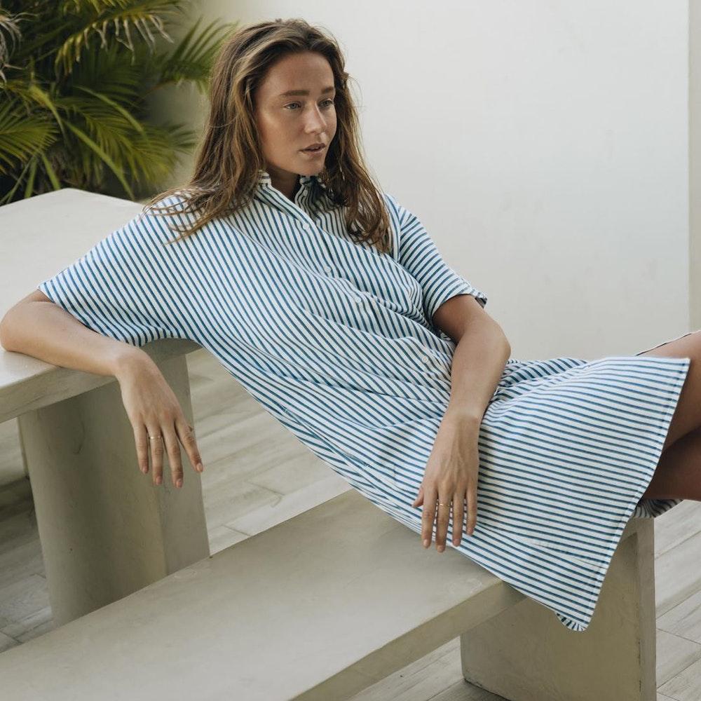 Twill Midi Kleid aus Baumwollmischung | Seidensticker