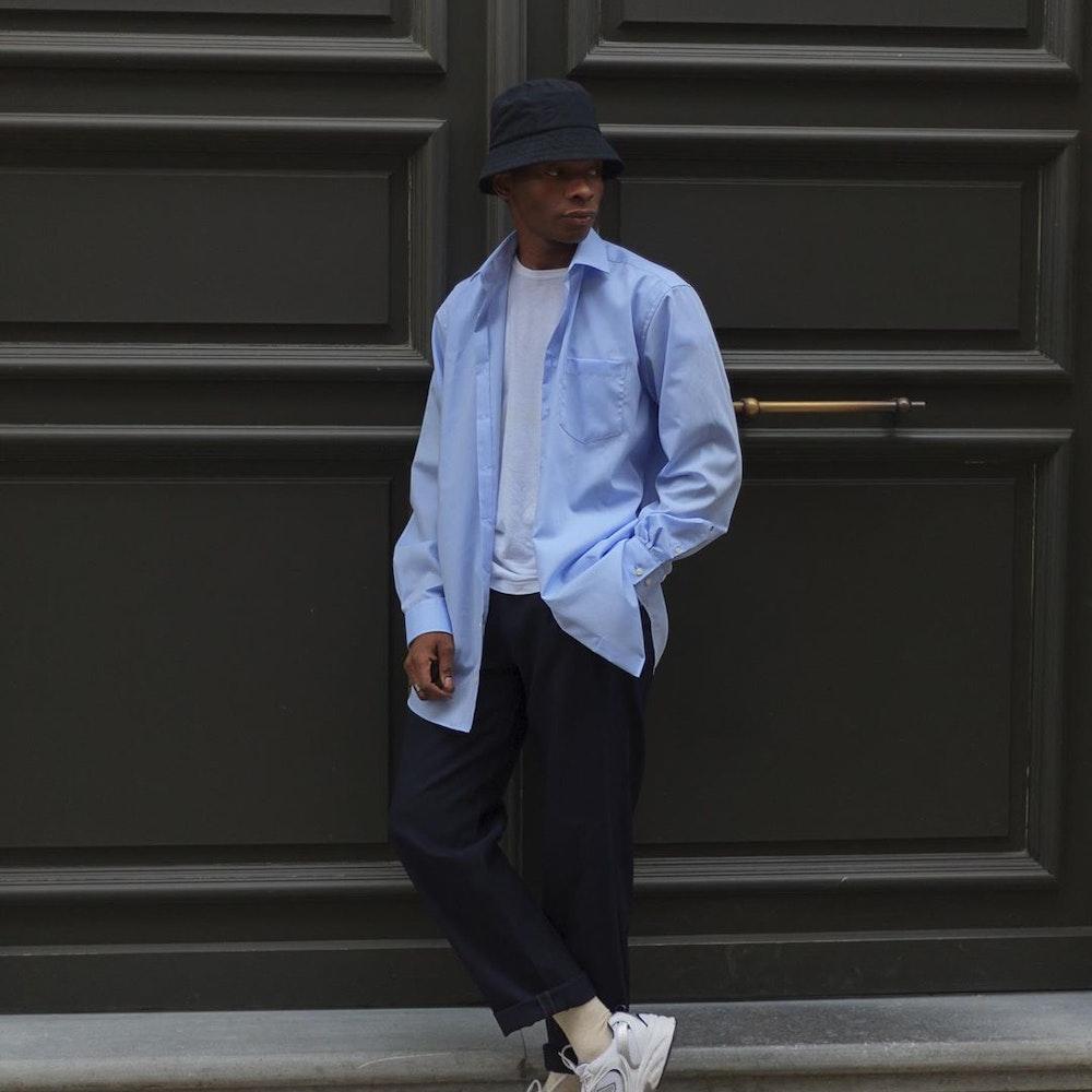 Bügelfreies Chambray Business Hemd in Comfort mit Kentkragen und extra langem Arm | Seidensticker