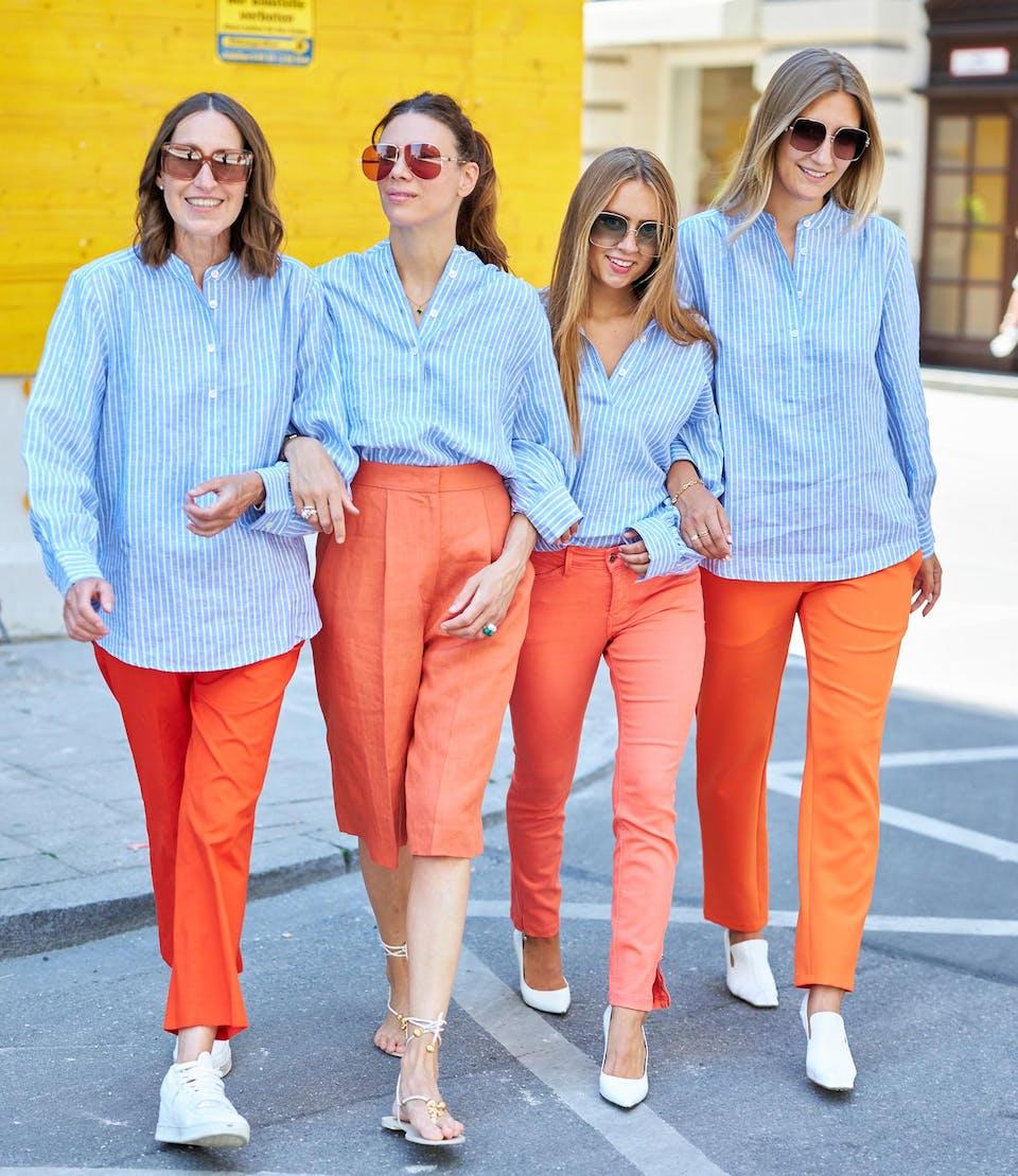 Hellblau mit Stehkragen glam-o-meter Bluse | Seidensticker