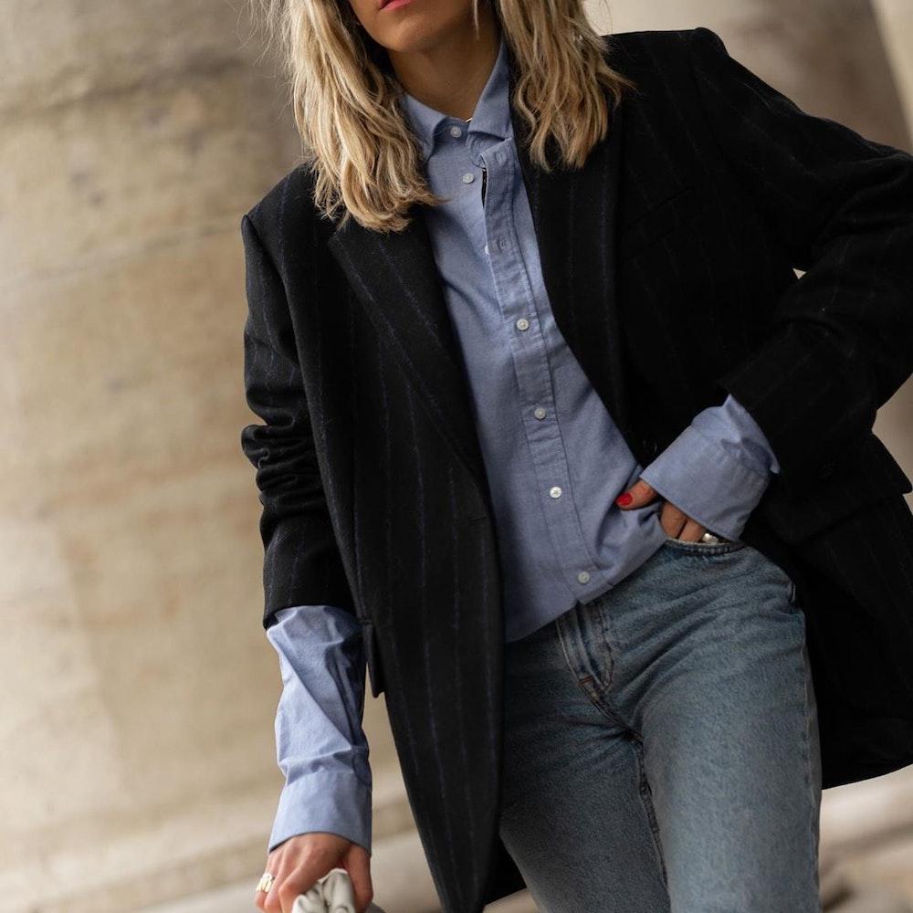 Bügelleichtes Oxford Business Hemd in Regular mit Button-Down-Kragen | Seidensticker