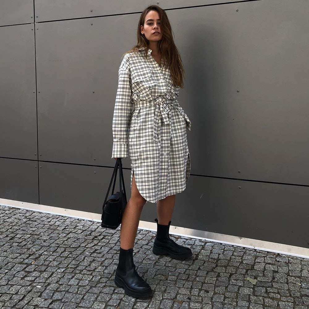 Panama Midi Kleid aus 100% Baumwolle | Seidensticker
