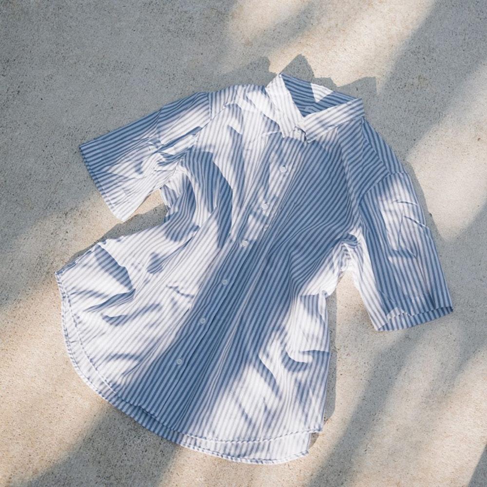 Short sleeve Poplin Shirt Blouse made of 100% Cotton | Seidensticker