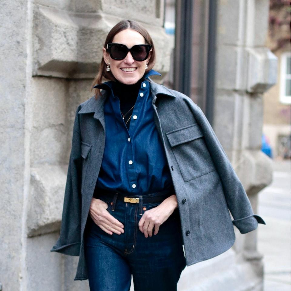 Denim blouse glam-o-meter | Seidensticker