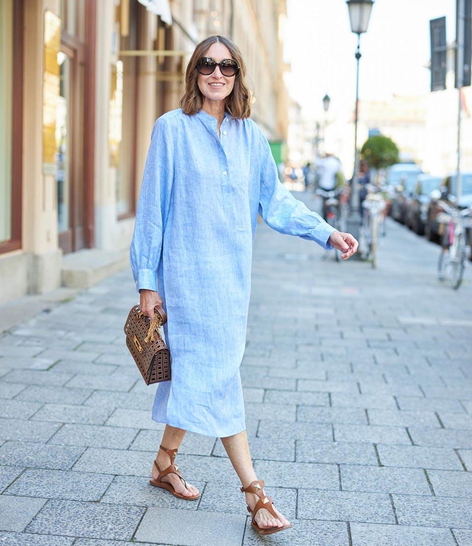 Kleid in Hellblau glam-o-meter | Seidensticker