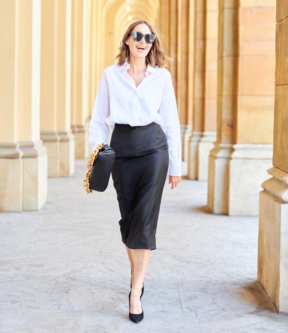 Uni in weiß glam-o-meter Bluse | Seidensticker