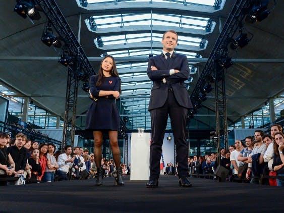 Emmanuel Macron et Kat Borlongan