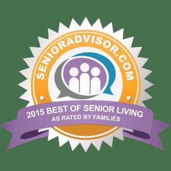 SeniorAdvisor.com 2015 Best of Senior Living Award