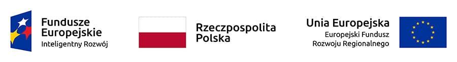 Fundusze Europejskie Inteligentny Rozwój, Rzeczpospolita Polska, Unia Europejska Europejski Fundusz Rozwoju Regionalnego logos