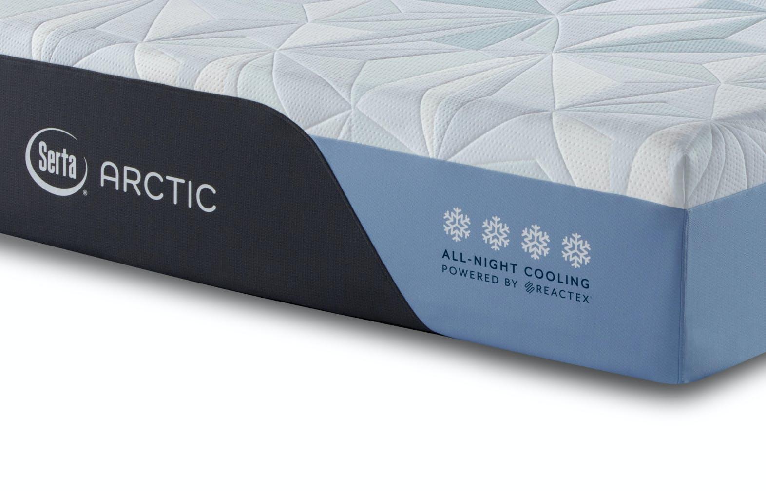 Foot of Serta Arctic Mattress