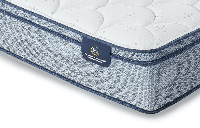 Foot of Serta Luxe mattress
