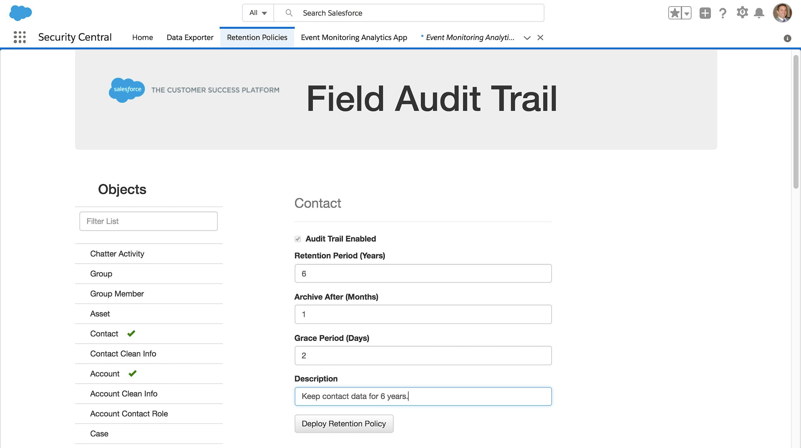 Review the Audit Trail