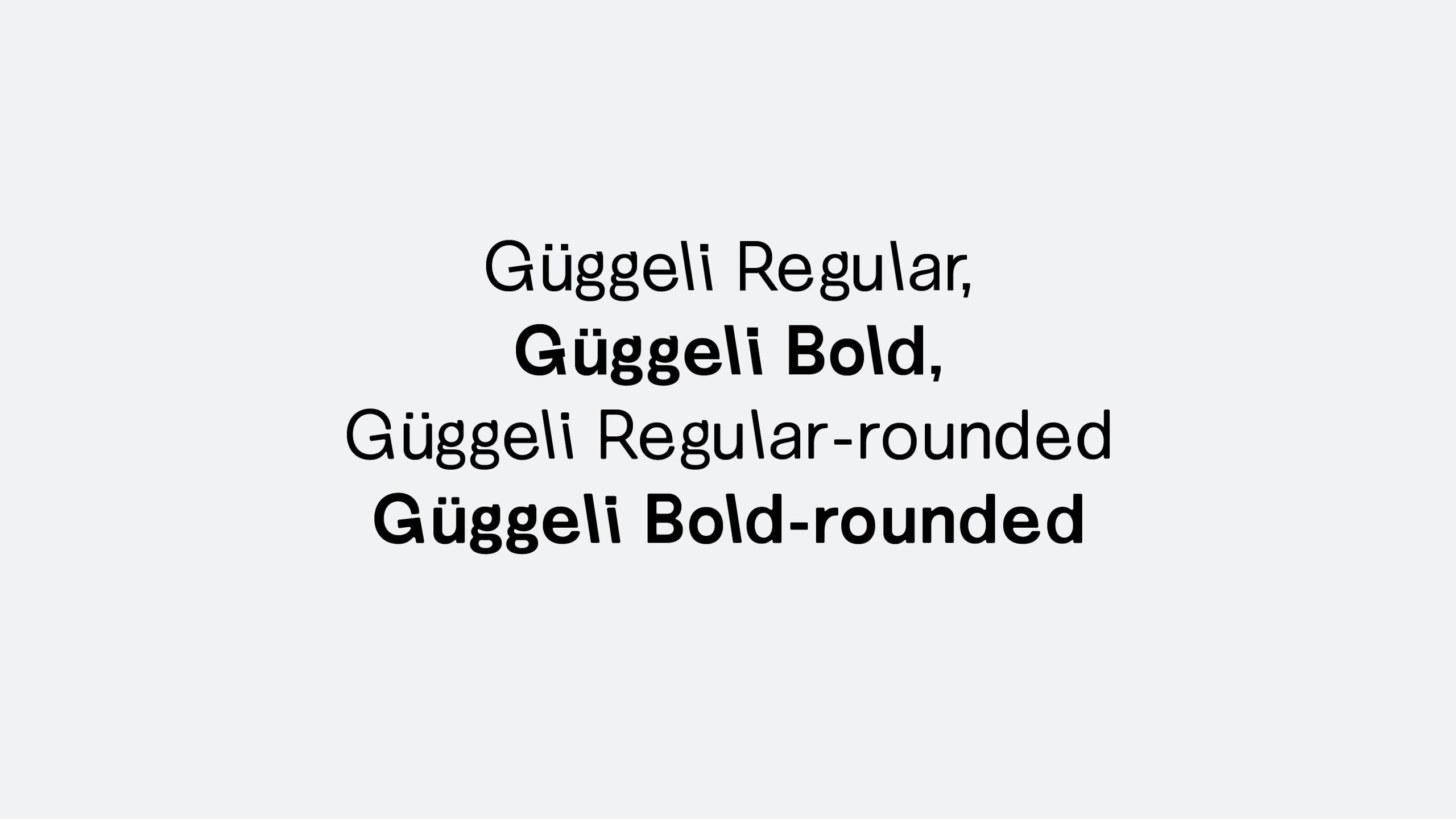Güggeli Specimen, by SFB Fonts