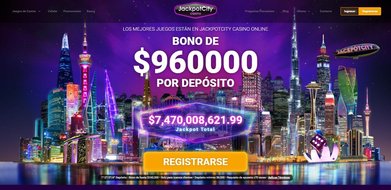 Página de inicio de JackpotCity Chile