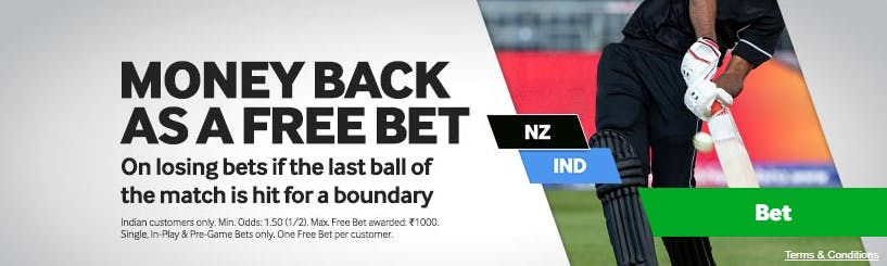 Betway money back as a free bet india offer