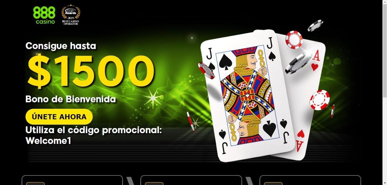 bono de bienvenida de 888casino para usuarios de Chile