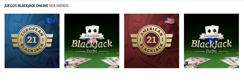 Juegos de blackjack de Play Uzu