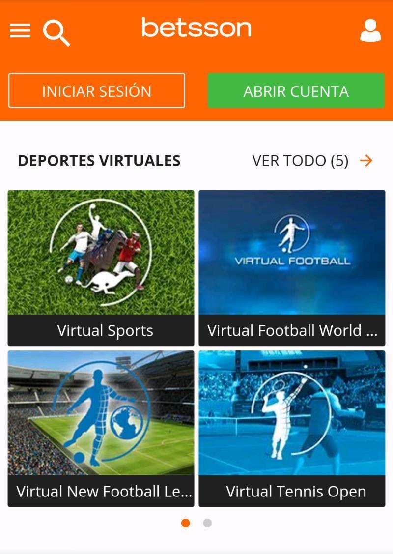 Apuestas en deportes virtuales en Betsson.