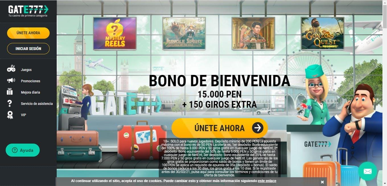 bono de Gate777 Perú