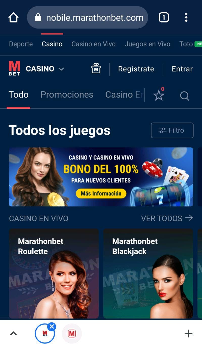 Bono Marathonbet Chile