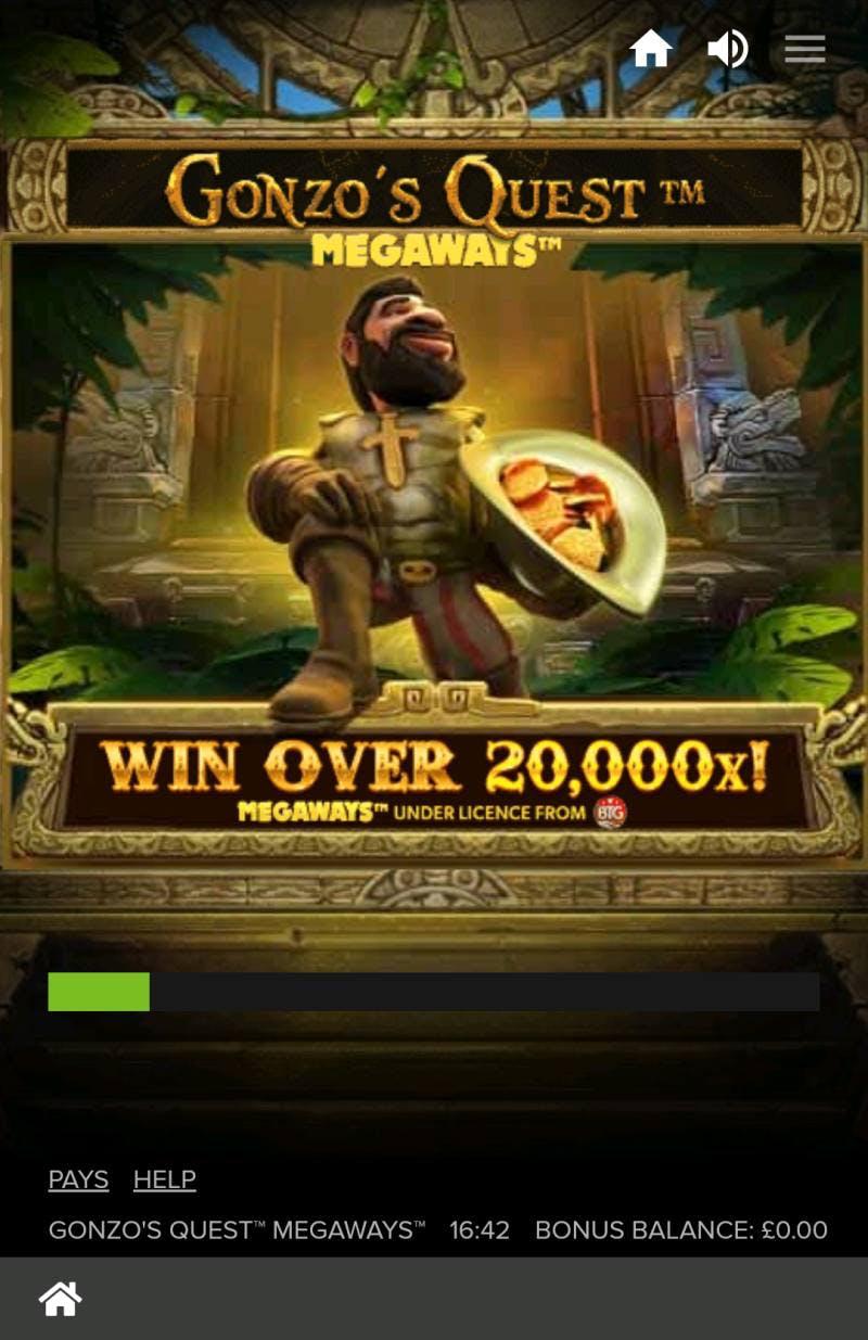 Presentación de la slot Gonzo's Quest
