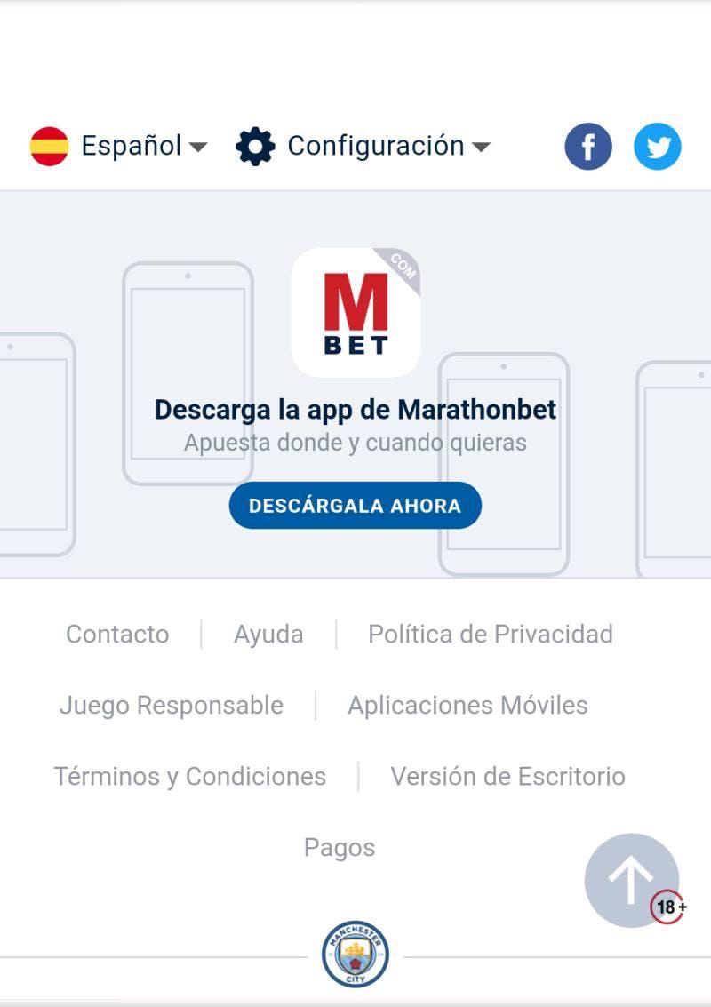 Descargar Marathonbet app.