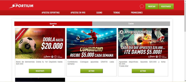 Bonos Sportium Colombia.