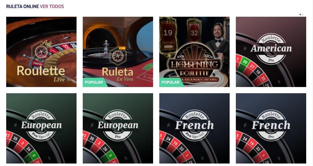 Ruletas online de Play Uzu casino