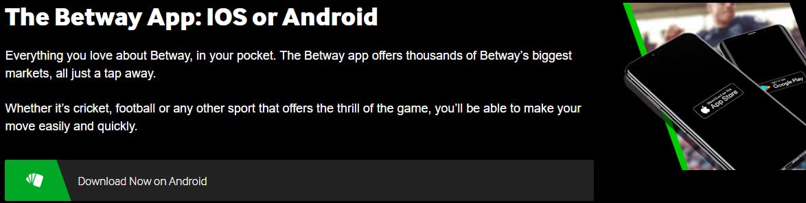 Betway casino app in India