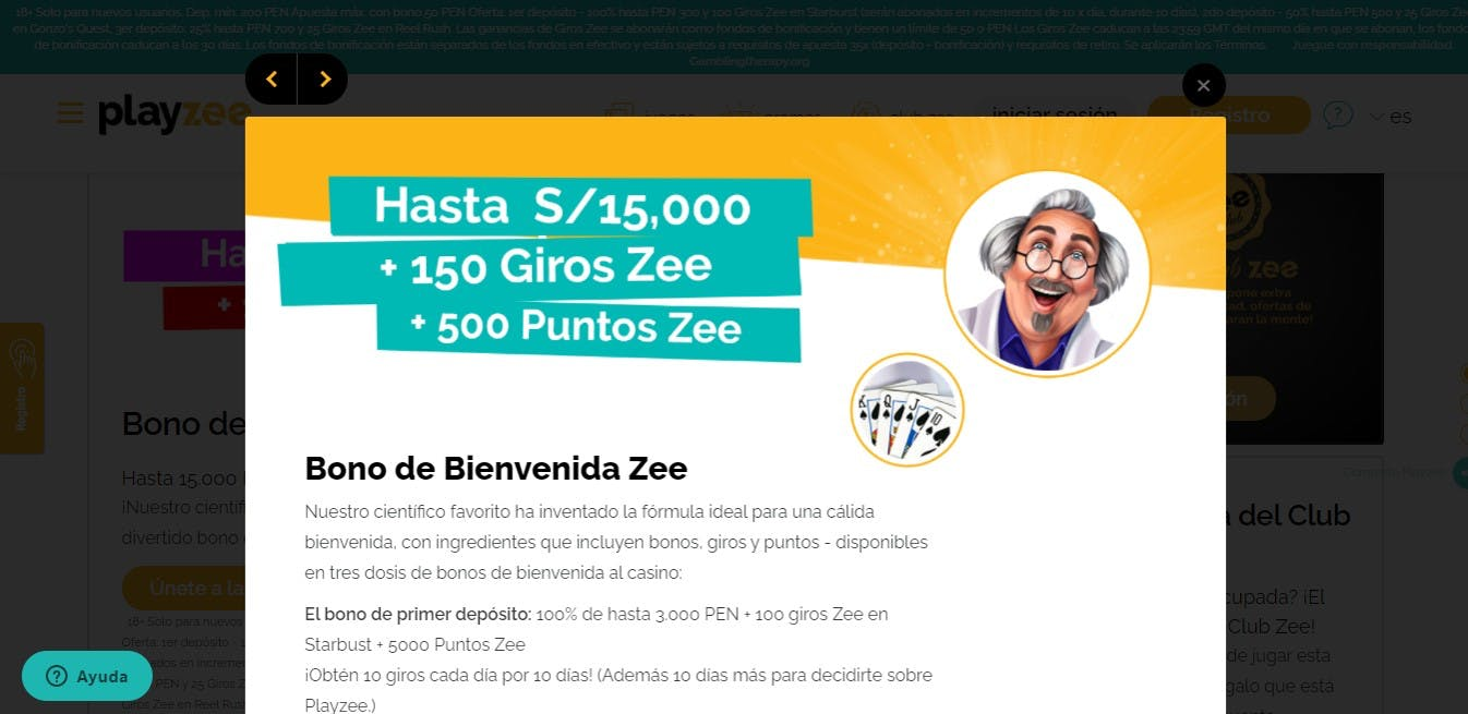 Bono de PlayZee Perú