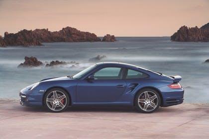 Porsche 911 Carrera Turbo 997.1 Aussenansicht Seite statisch dunkelblau