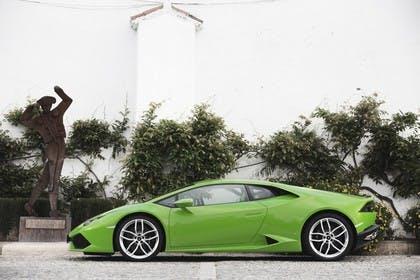 Lamborghini Huracán Aussenansicht Seite statisch grün