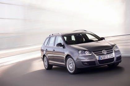 VW Golf 5 Variant Aussenansicht Front schräg dynamisch grau